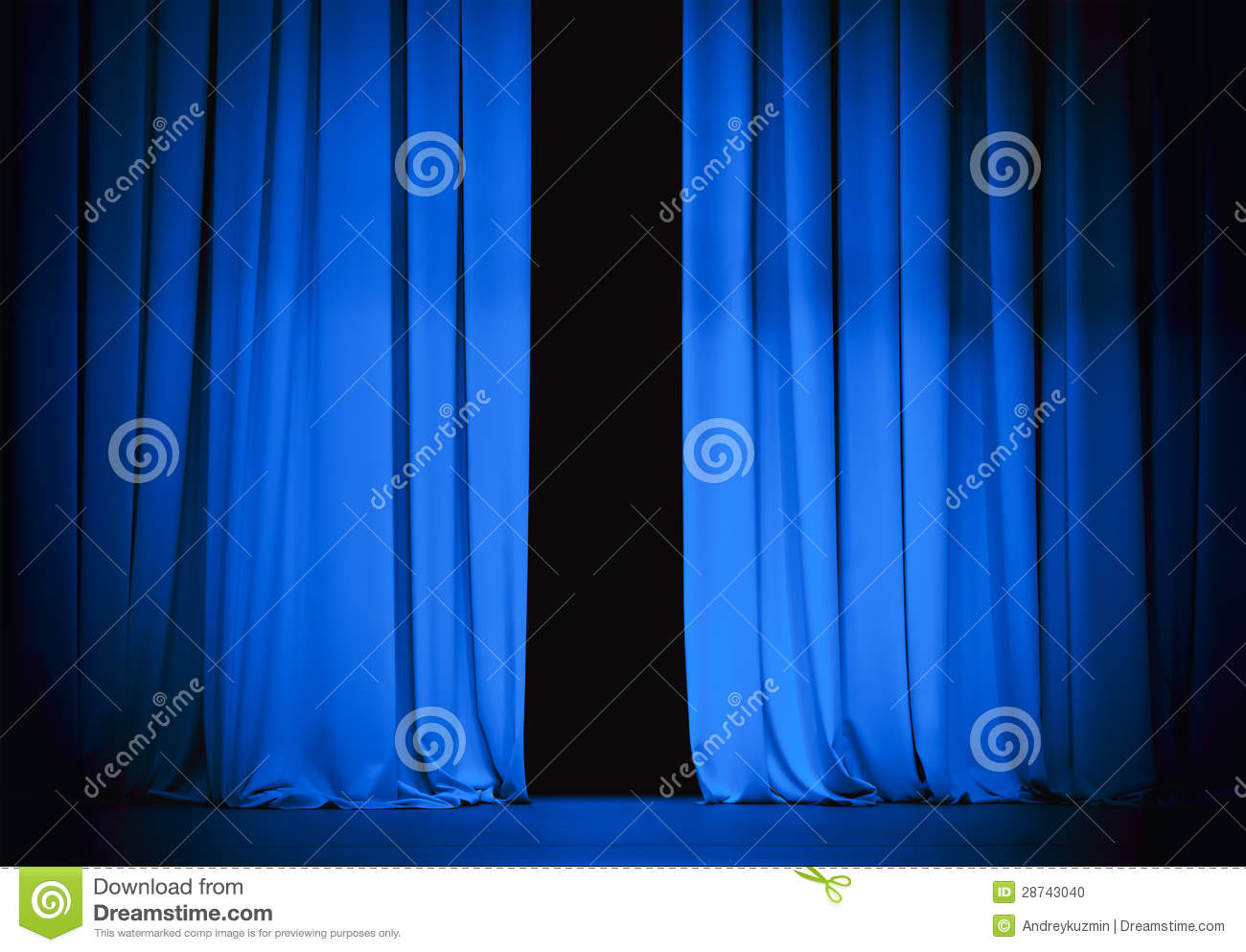 Real open stage curtains - Real Open Stage Curtains Blue Theatre Stage Curtain Slightly Open
