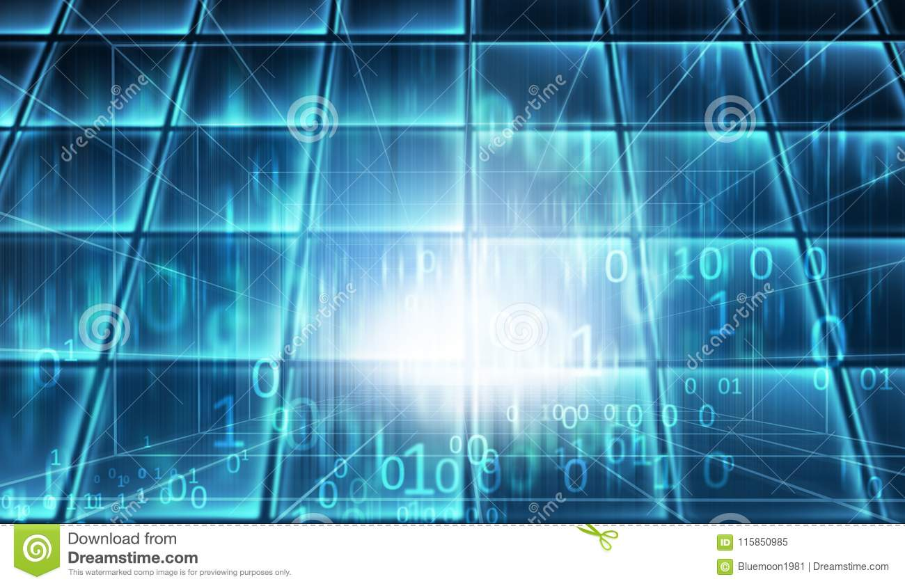 blue theme cyberspace data room concept series stock image image