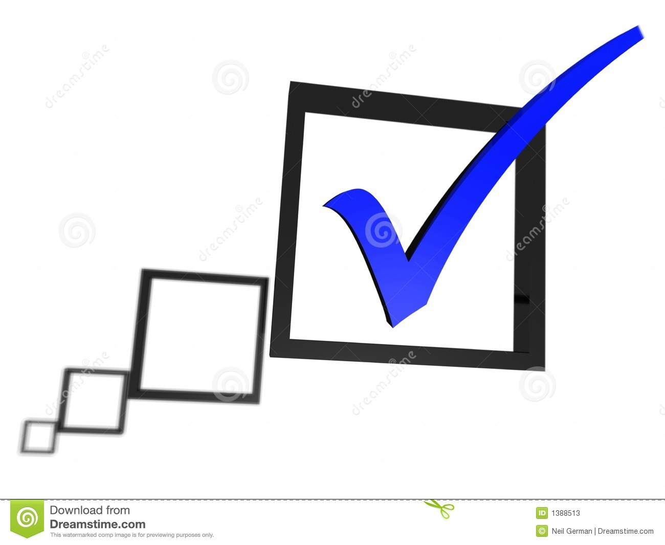 Blue tick in a check box list stock illustration illustration of royalty free stock photo biocorpaavc