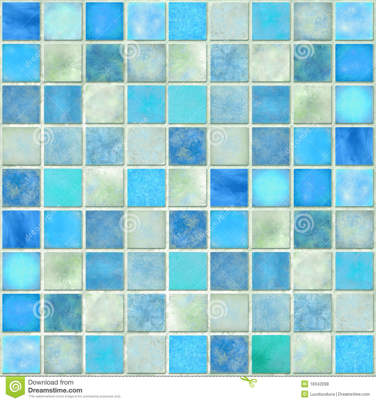 Blue Tile Mosaic Royalty Free Stock Photos Image 18342098