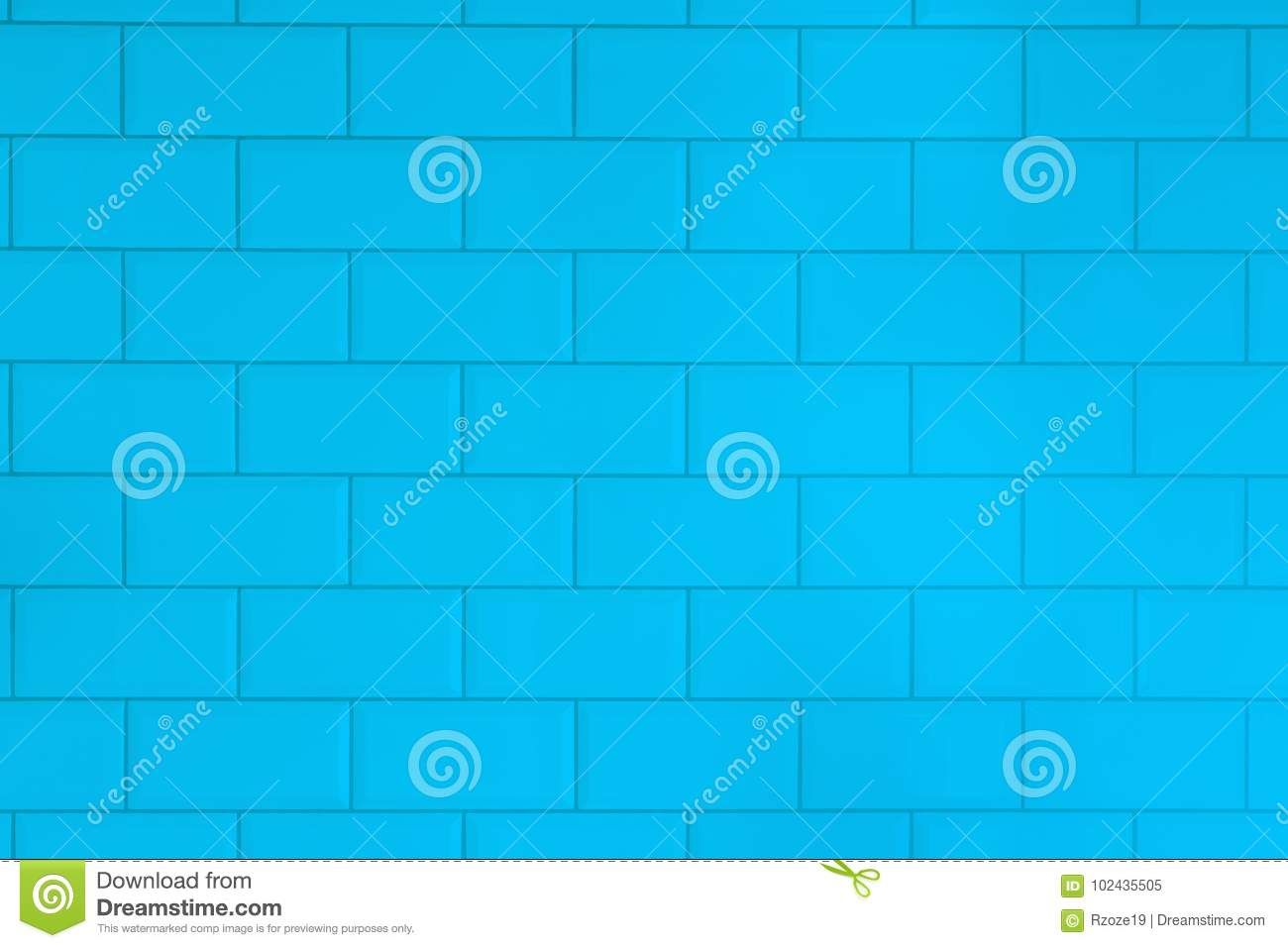Blue Tiles Brick Background.Interior Of The Kitchen Or Bathroom ...