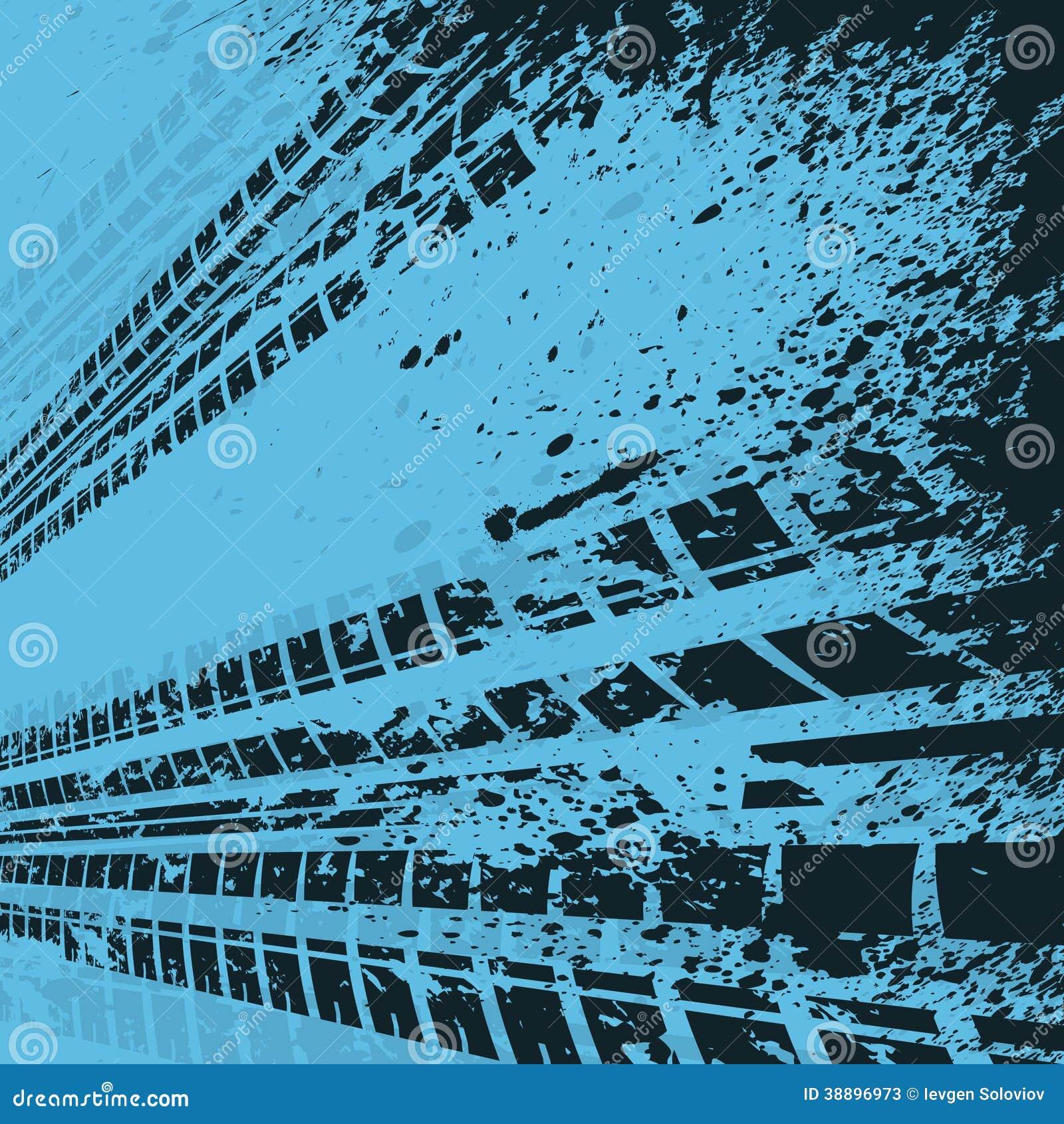 blue tire track background stock vector image 38896973. Black Bedroom Furniture Sets. Home Design Ideas