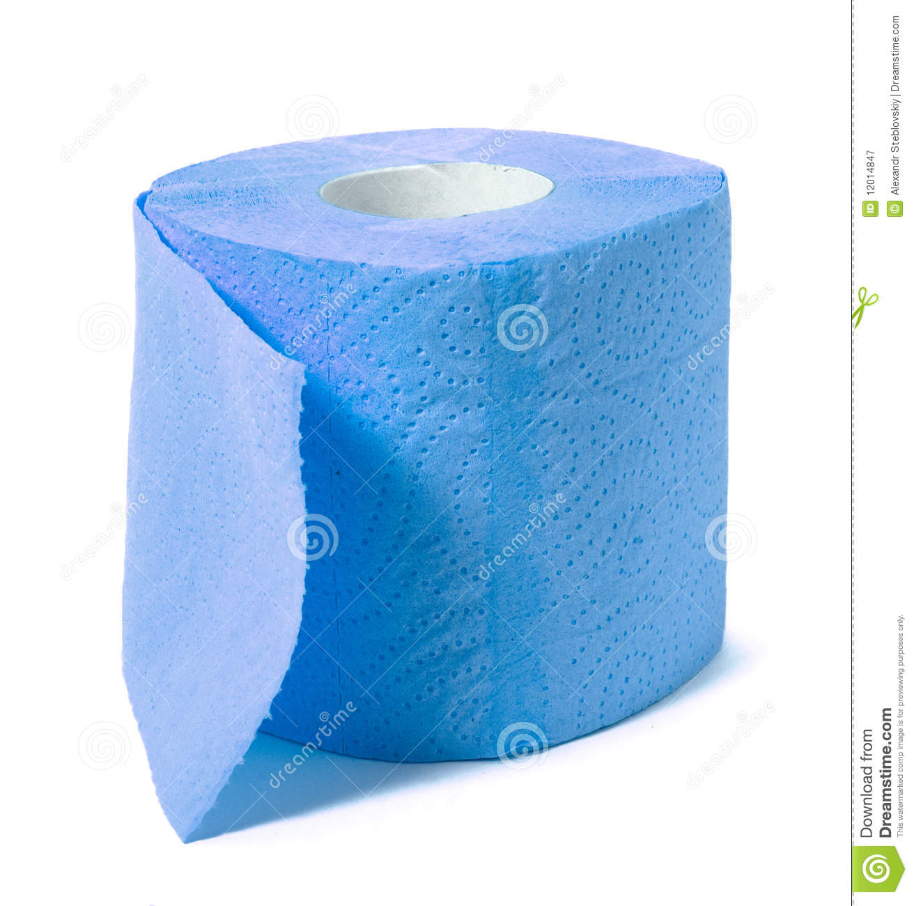 Blue Toilet Paper Stock Image Image Of Isolated Object