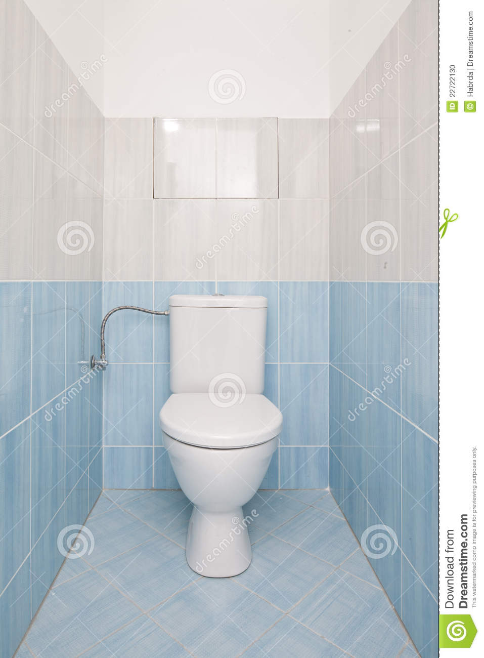 Blue Toilet Room Stock Photo Image Of House Tiled