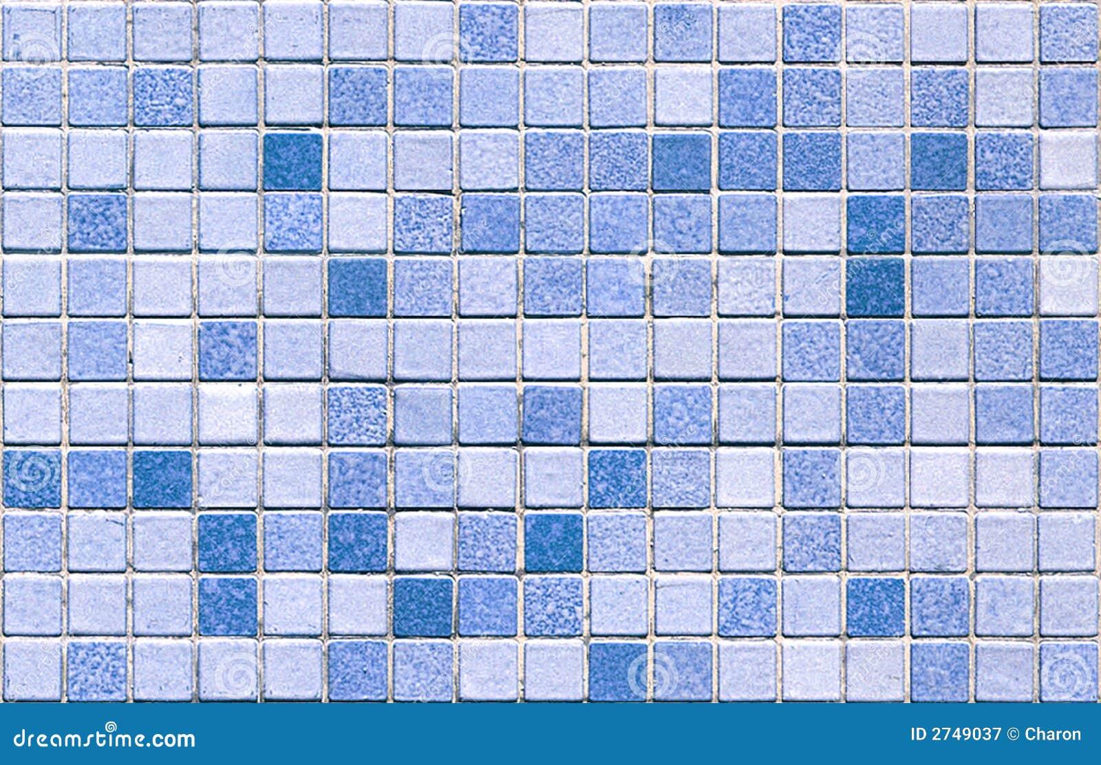 Blue tone mosaic tiles seamless royalty free stock