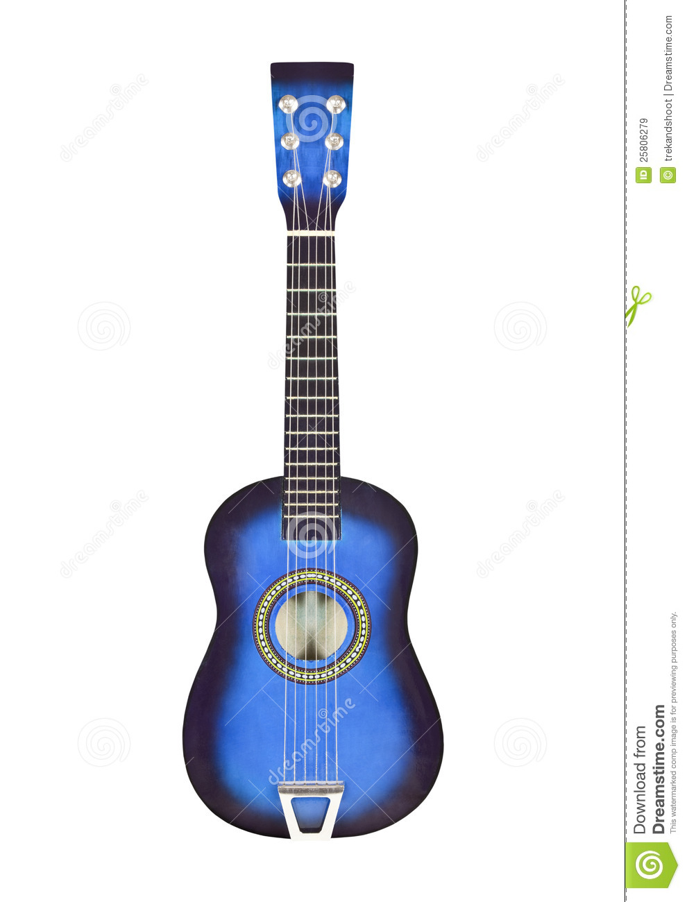 blue toy ukulele size guitar isolated royalty free stock images image 25806279. Black Bedroom Furniture Sets. Home Design Ideas