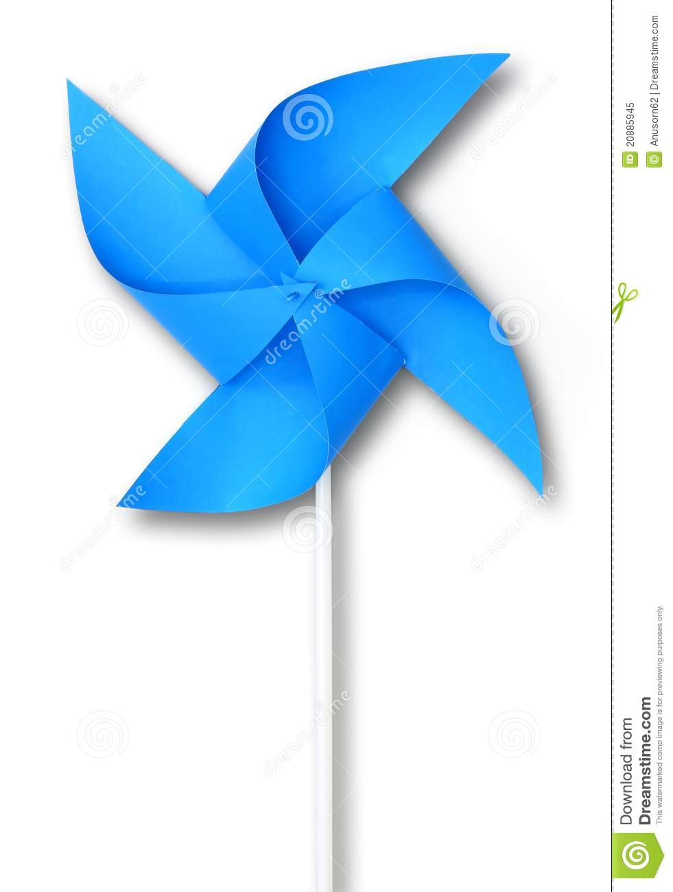 Blue Toy Windmill Royalty Free Stock Photo - Image: 20885945