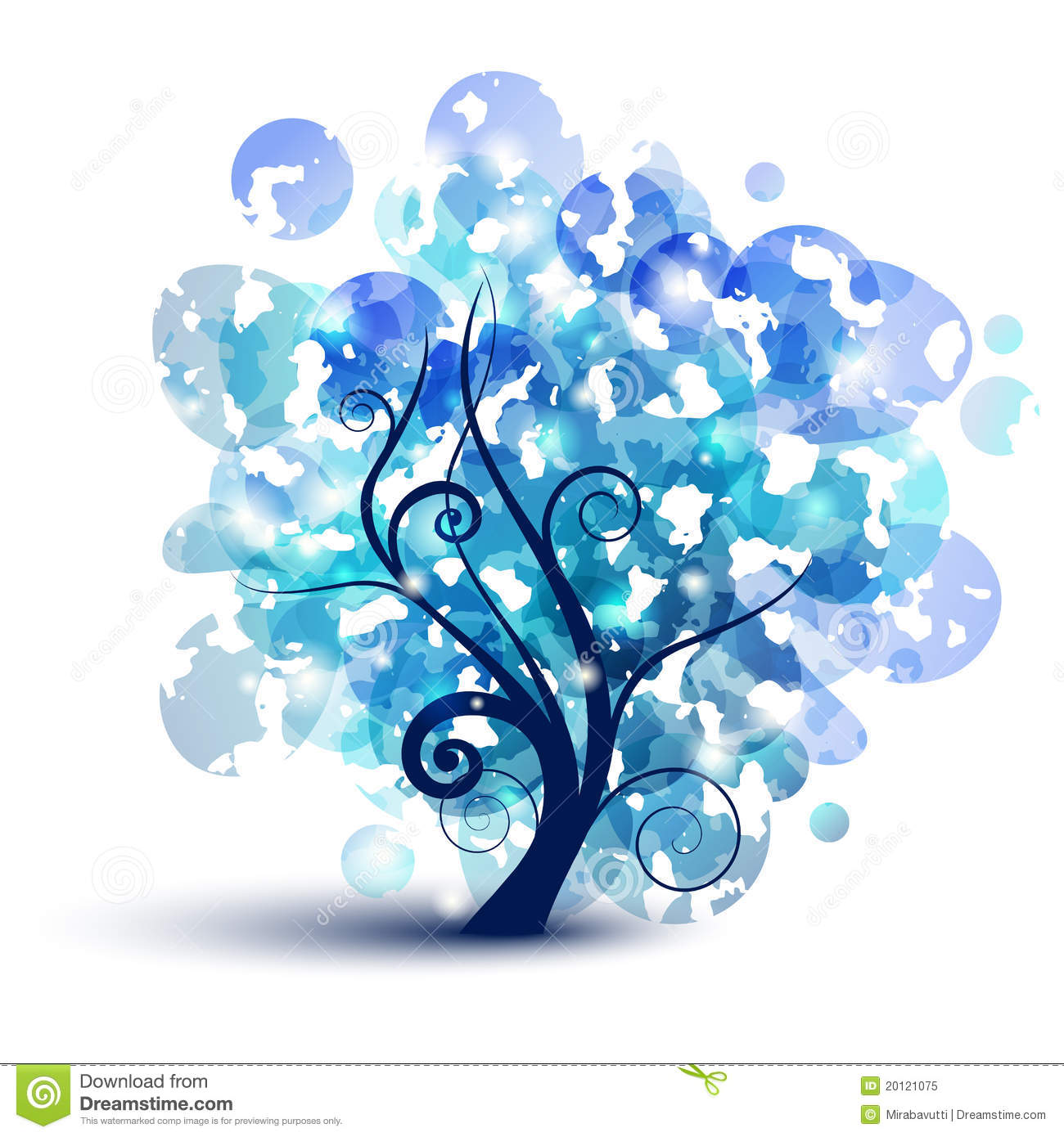 Blue Tree Royalty Free Stock Photo - Image: 20121075