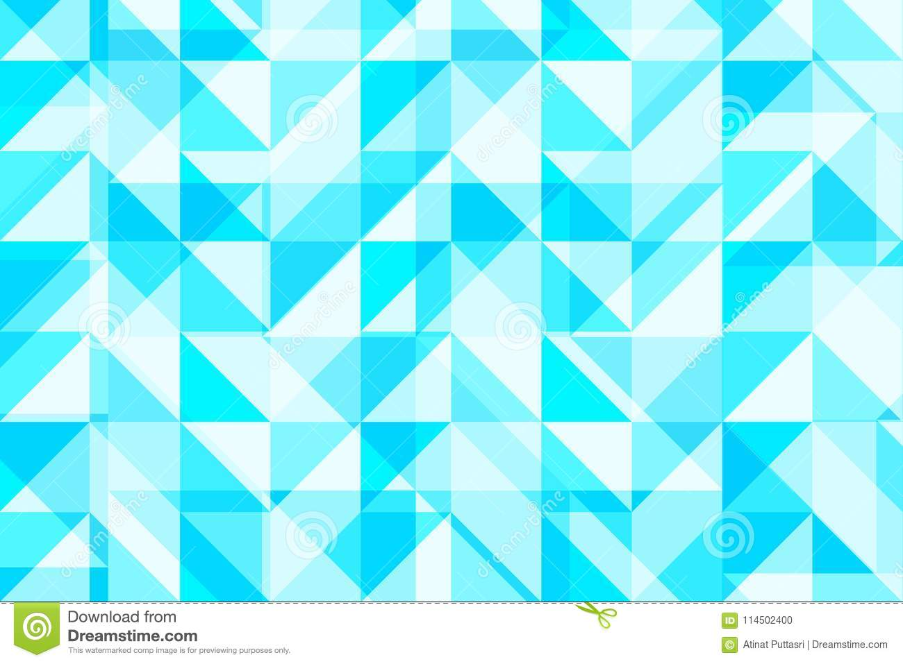 blue triangle and square geometric shapes abstract pattern vector