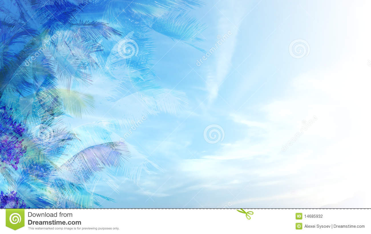 background of blue tropical - photo #2