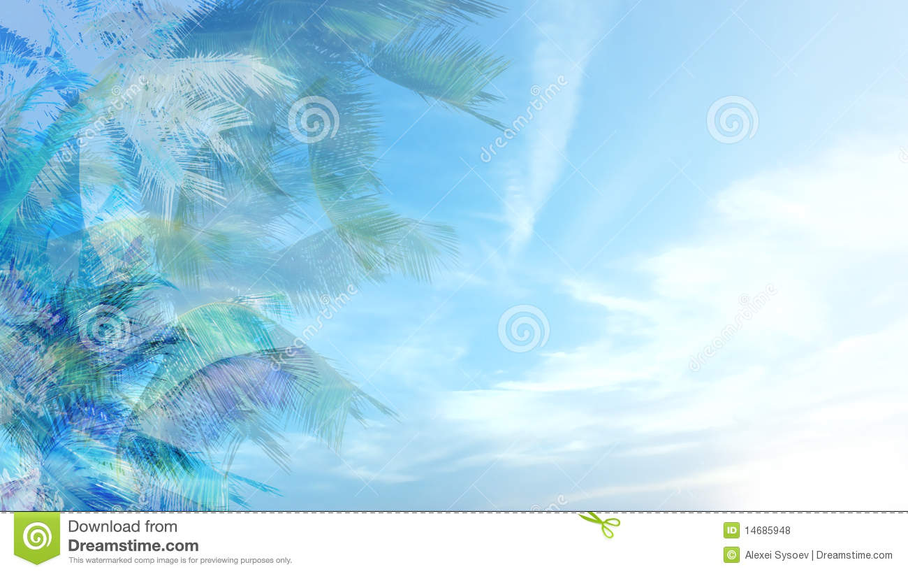 background of blue tropical - photo #3