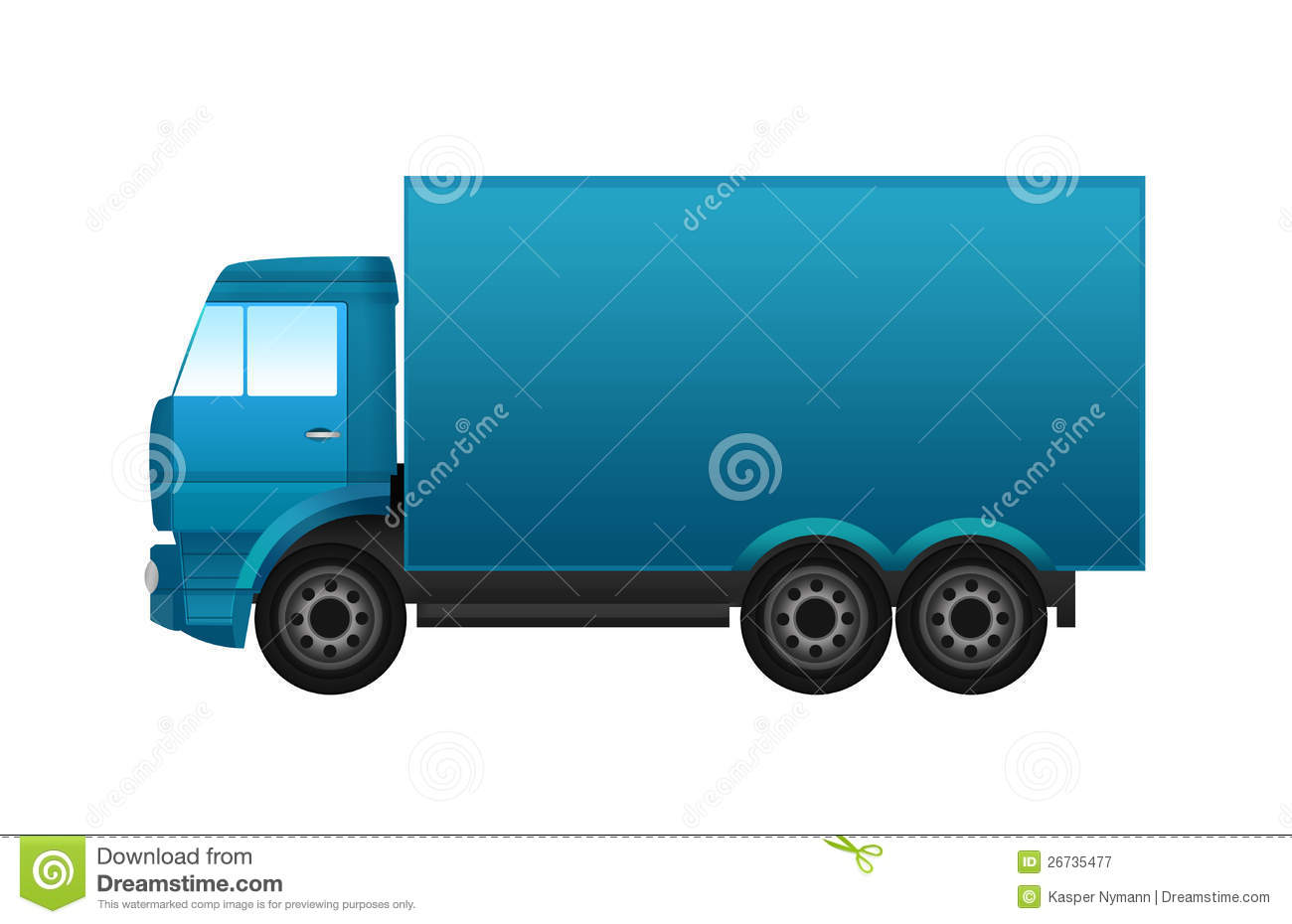 Semi Truck Seats >> Blue Truck Royalty Free Stock Photography - Image: 26735477
