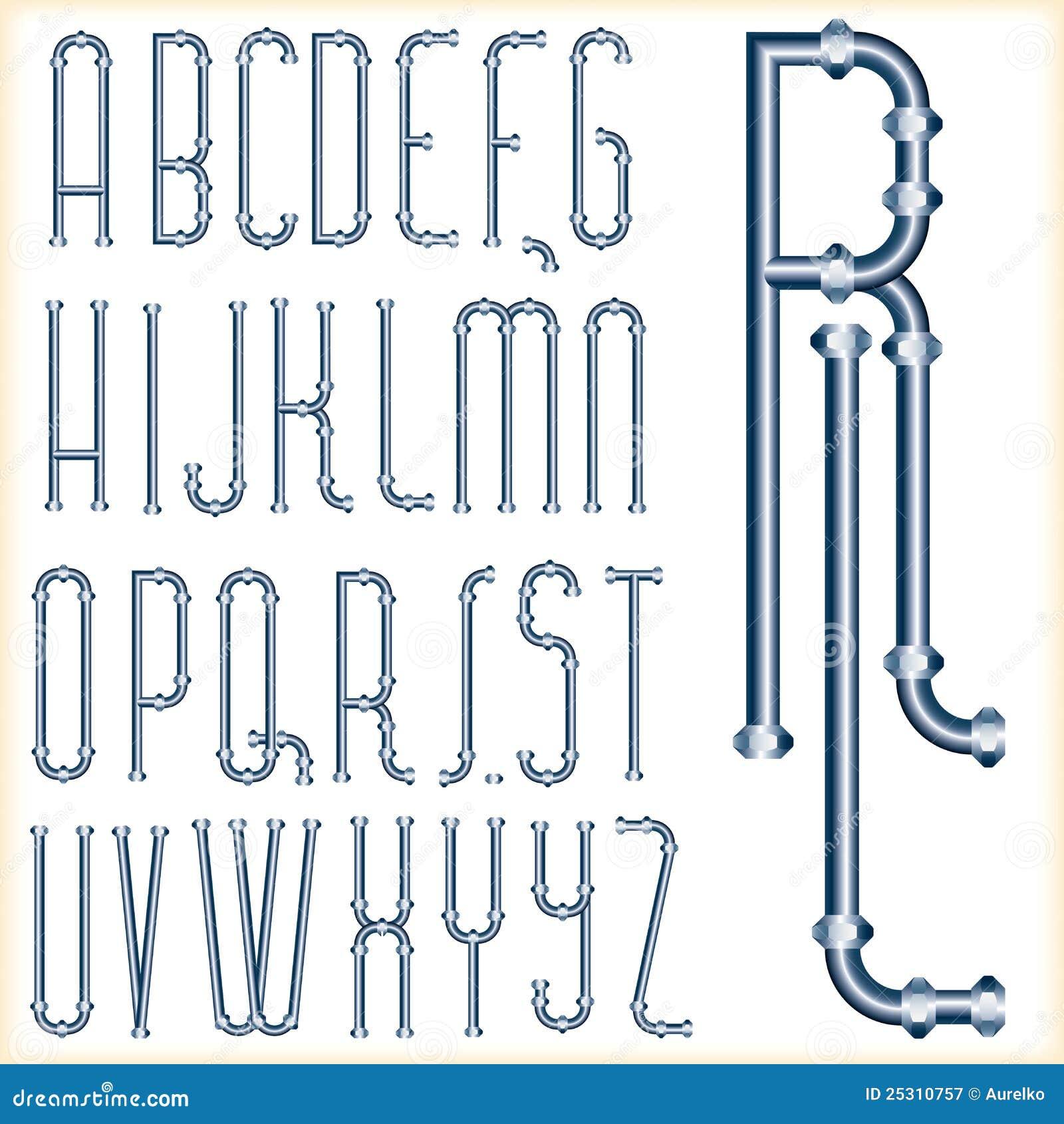 Blue Tube Font Royalty Free Stock Photography Image