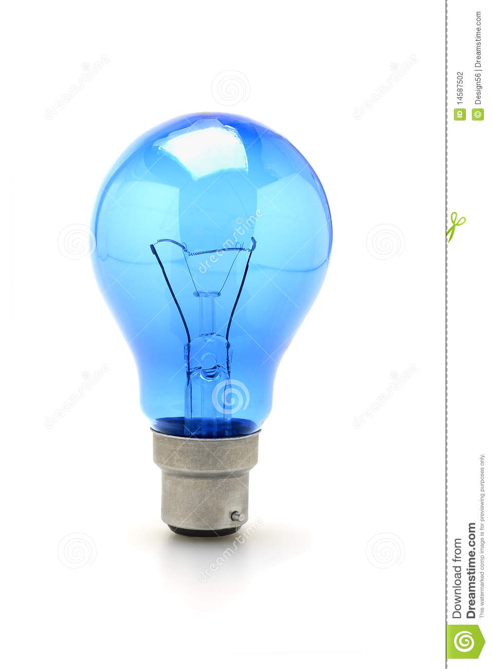 Blue Tungsten Light Bulb Stock Photography Image 14587502