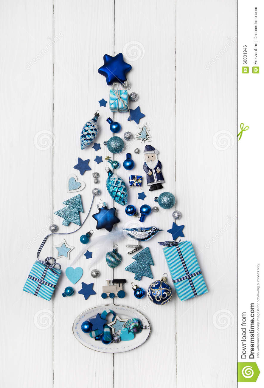 royalty free stock photo download blue and turquoise christmas tree of small - Small Blue Christmas Tree