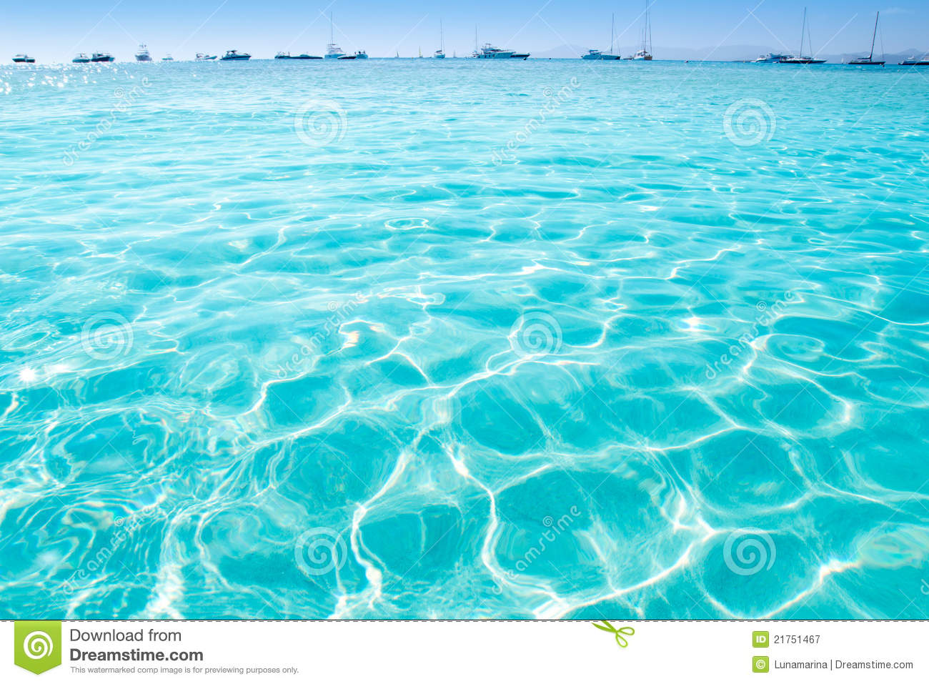 Blue Turquoise Ripple Formentera Water Royalty Free Stock Photography Image 21751467