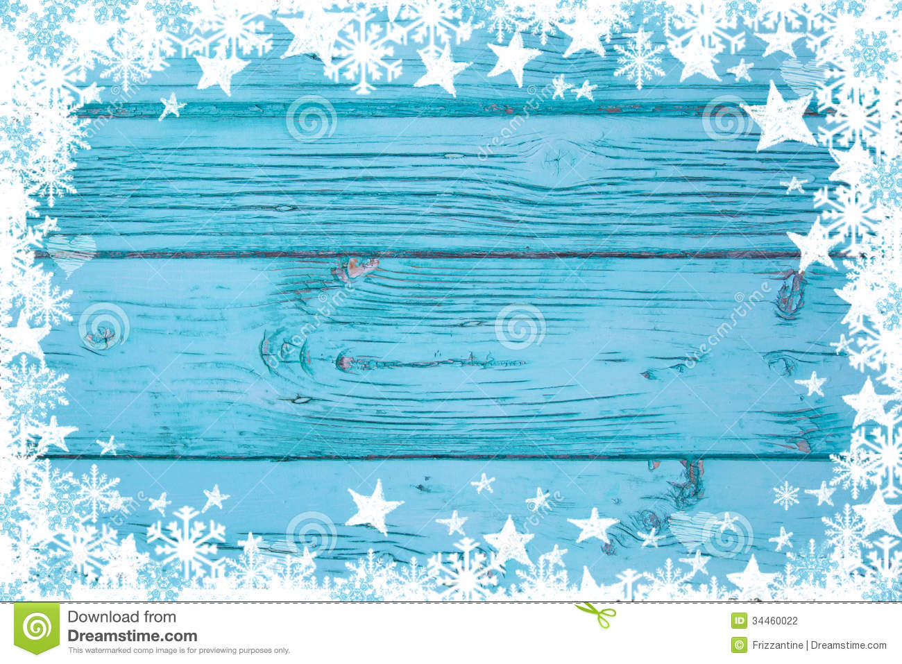 Blue or turquoise wood background for christmas advertising