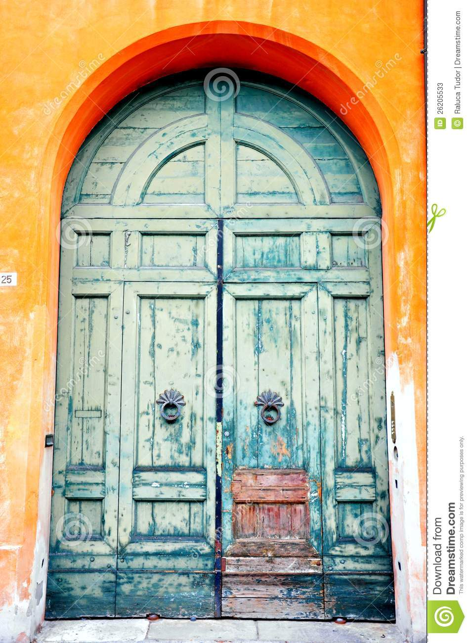 Blue Tuscan Door In Italy Stock Photos Image 26205533