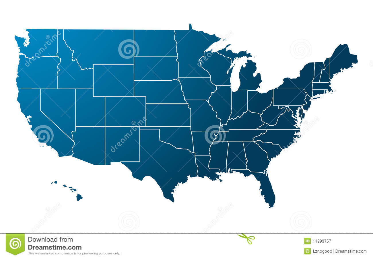 Blue Usa Map.Abstract Usa Map Vector Illustration Geometric Structure In Blue