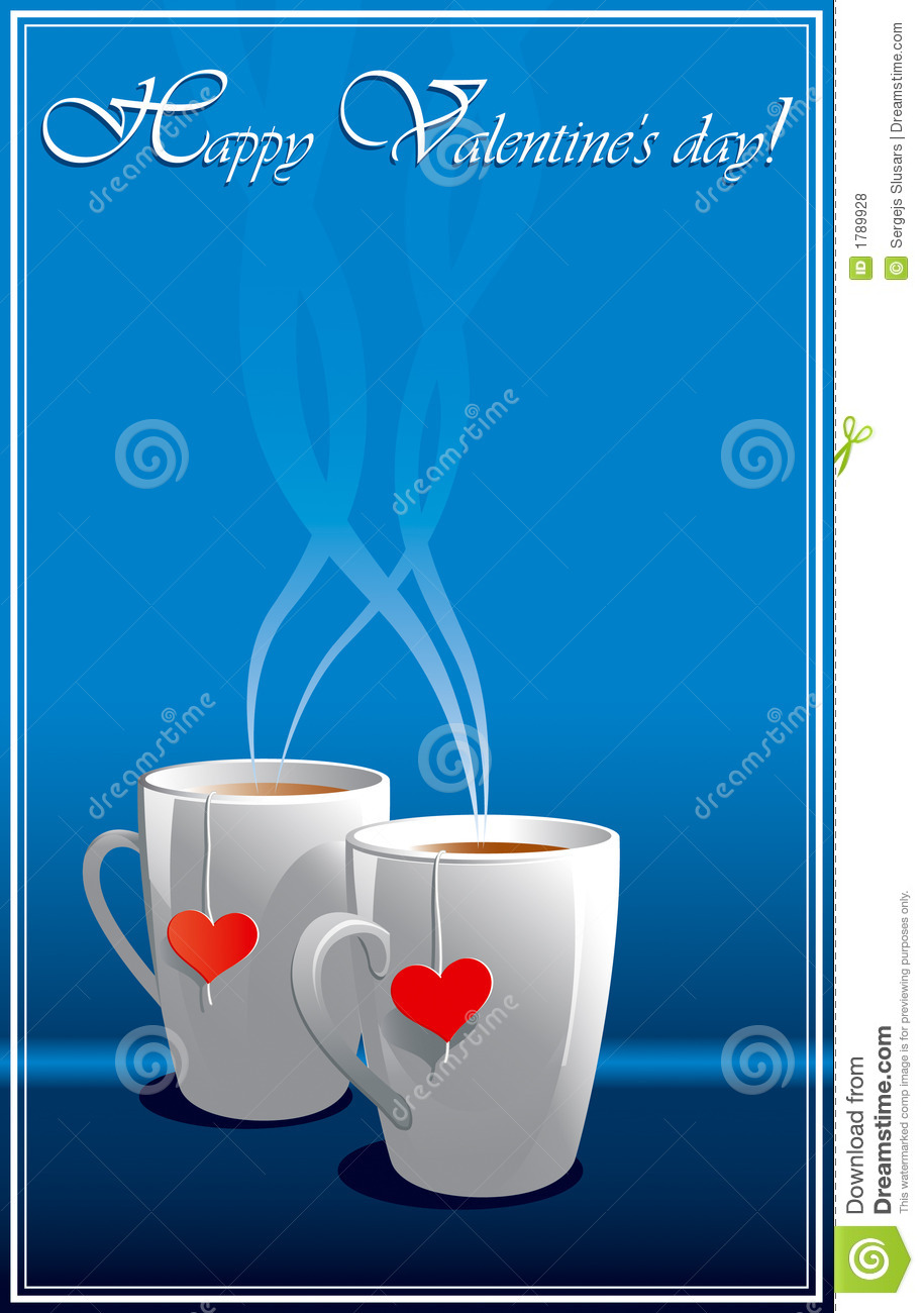 Blue Valentines Greeting Cards Stock Vector Illustration Of