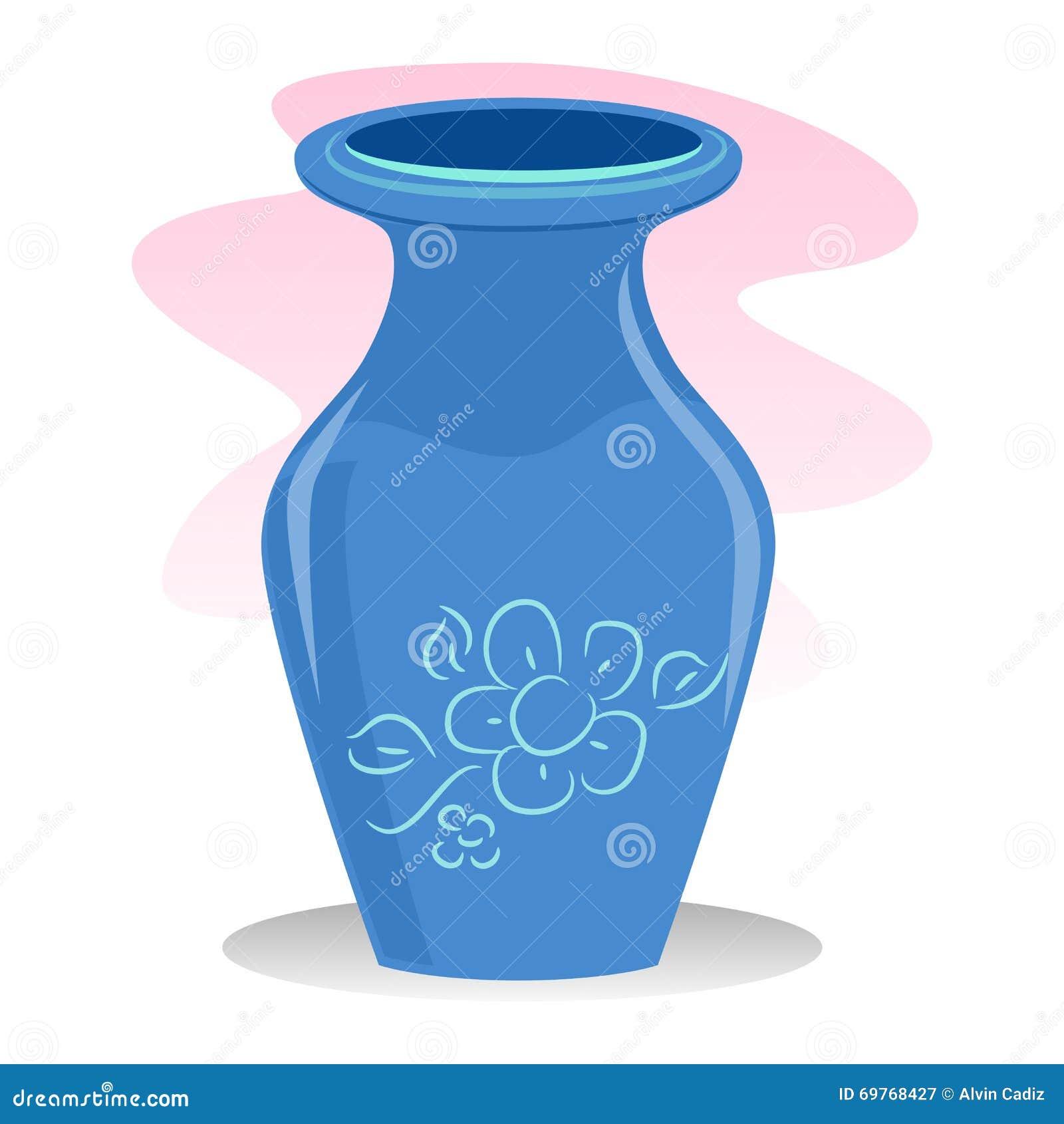 Blue Vase Stock Vector Image 69768427