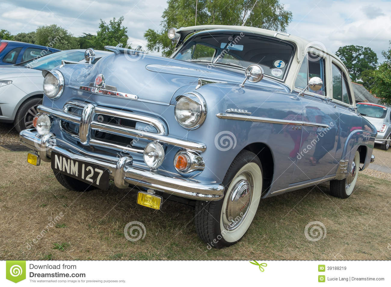 A Blue Vauxhall Wyvern Classic Car Editorial Stock Image - Image of ...