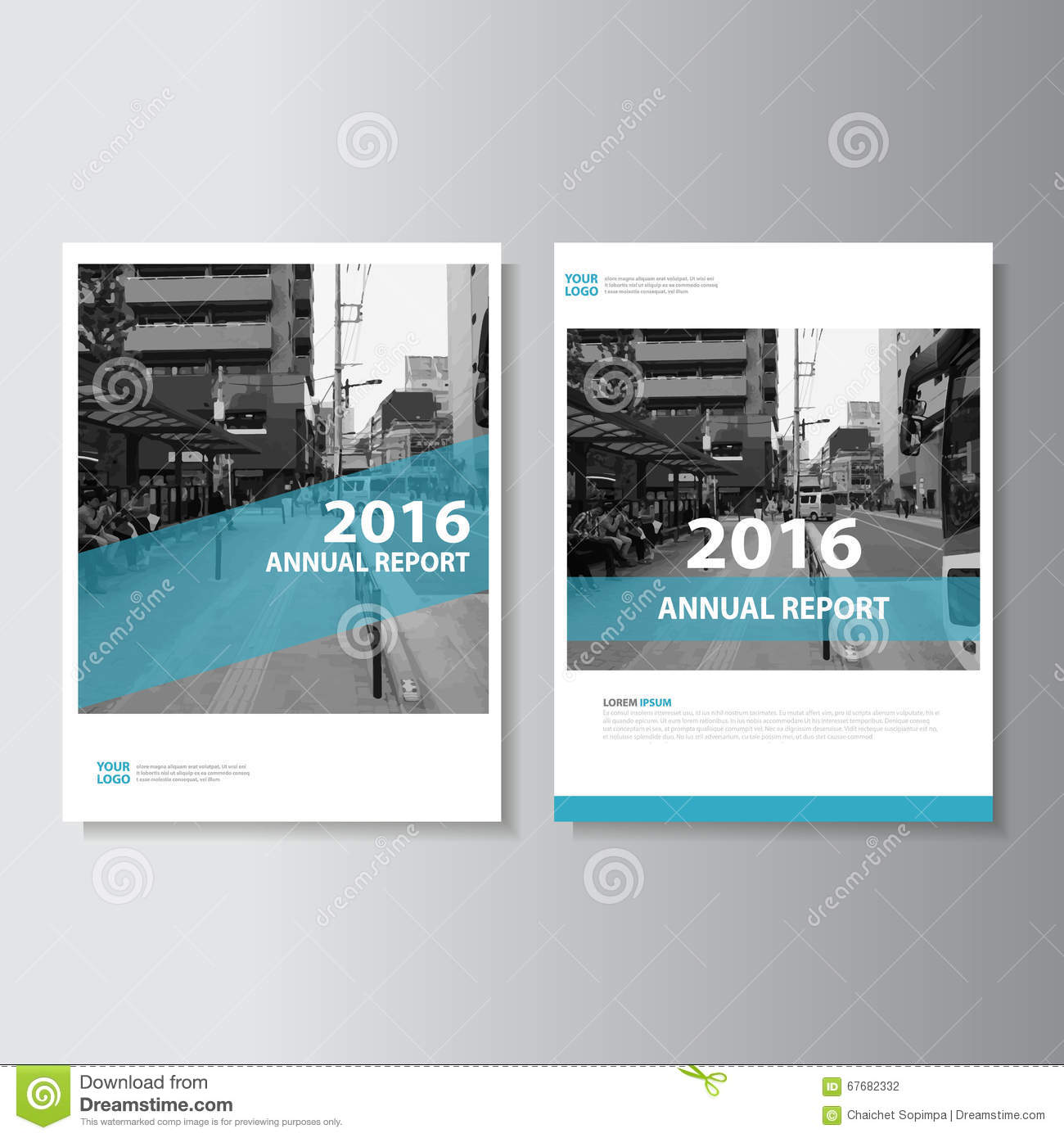 Book Cover Layout Levels ~ Green vector magazine annual report leaflet brochure flyer