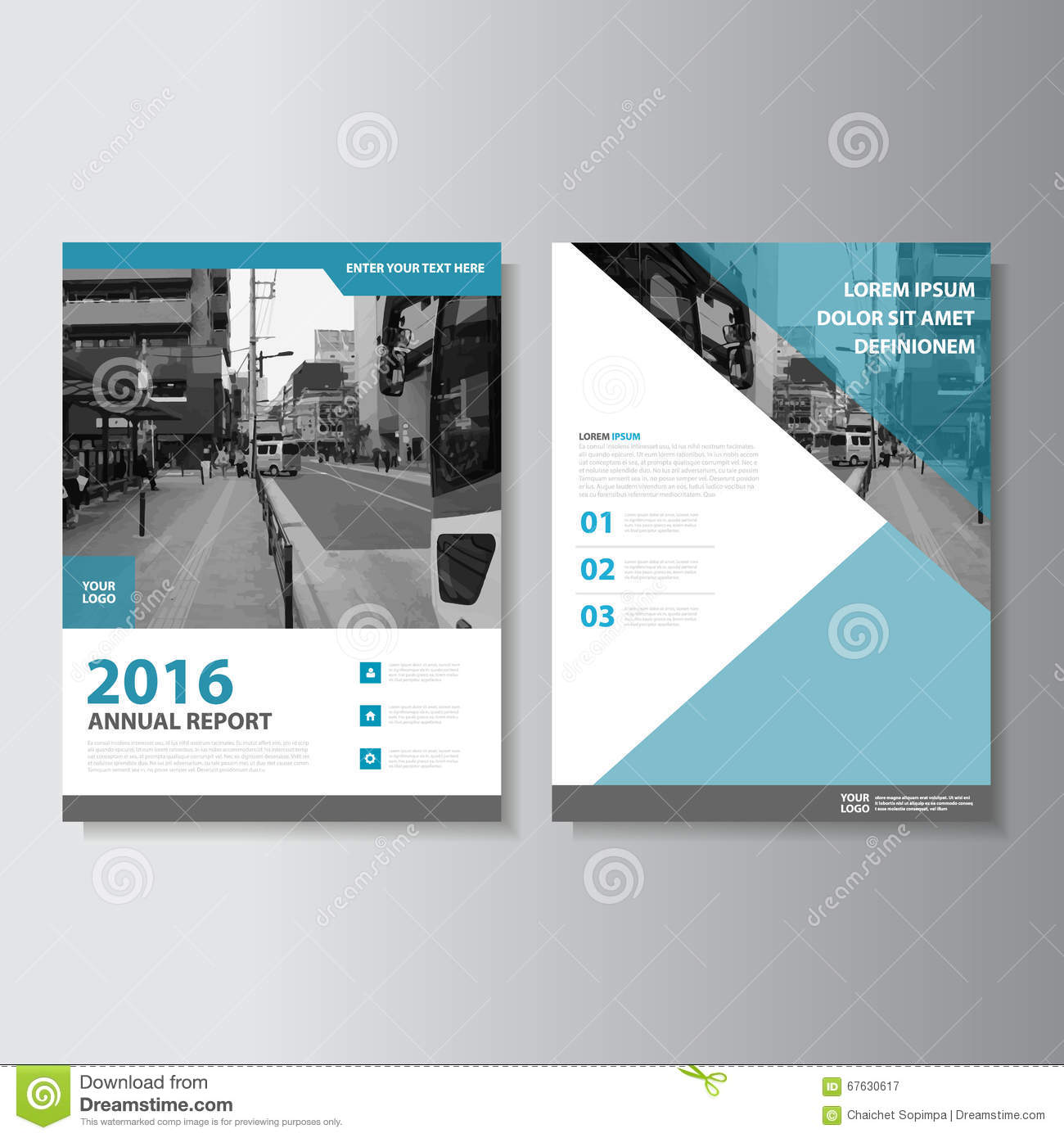 Book Cover Layouts : Blue vector magazine annual report leaflet brochure flyer