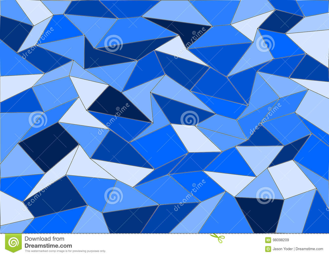 Blue Vector Tile Mosaic Background Stock Vector - Illustration of ...