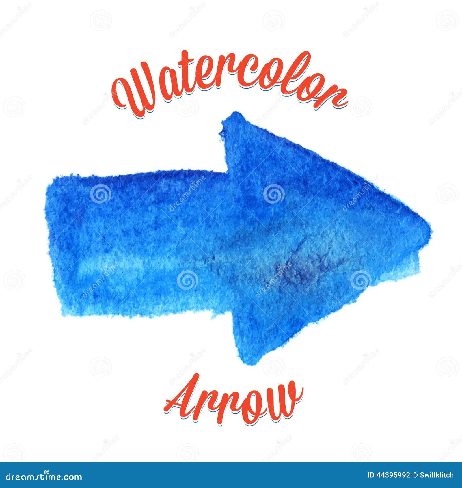 Blue vector watercolor arrow stock vector image 44395992 for Blue arrow paint color