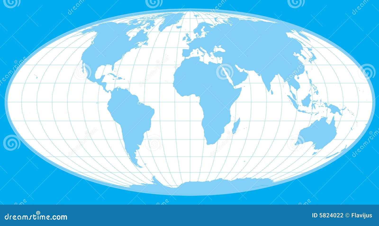 Blue vector world globe clip-art.