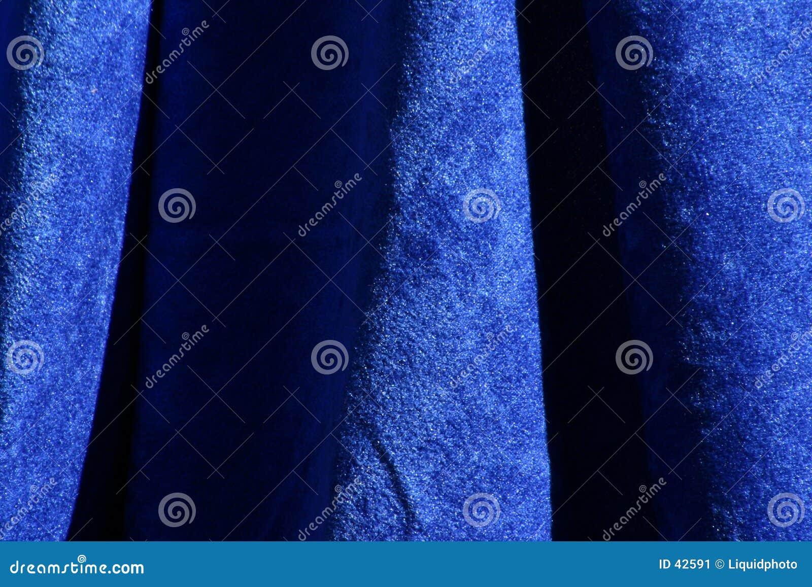 Blue Velvet Fabric Texture