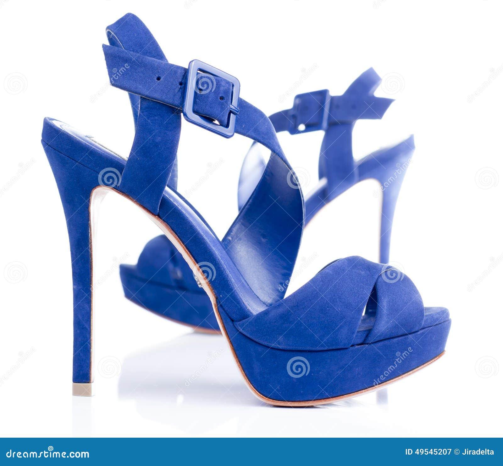 Blue Velvet High Heels