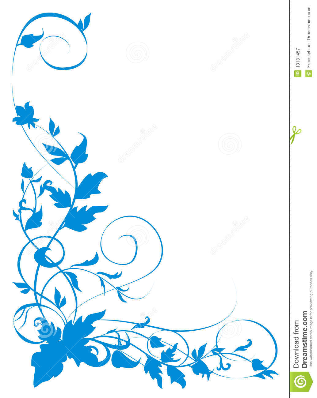Blue Vines Pattern Royalty Free Stock Photography Image 13181457