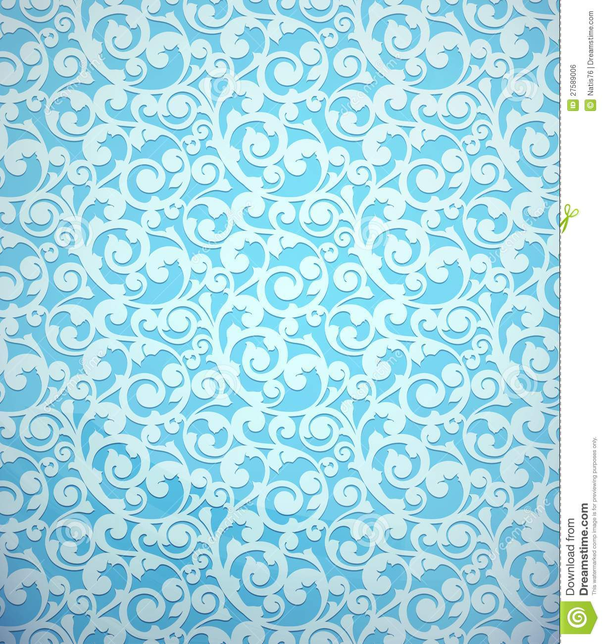 Blue Vintage Seamless Pattern Royalty Free Stock Image ...