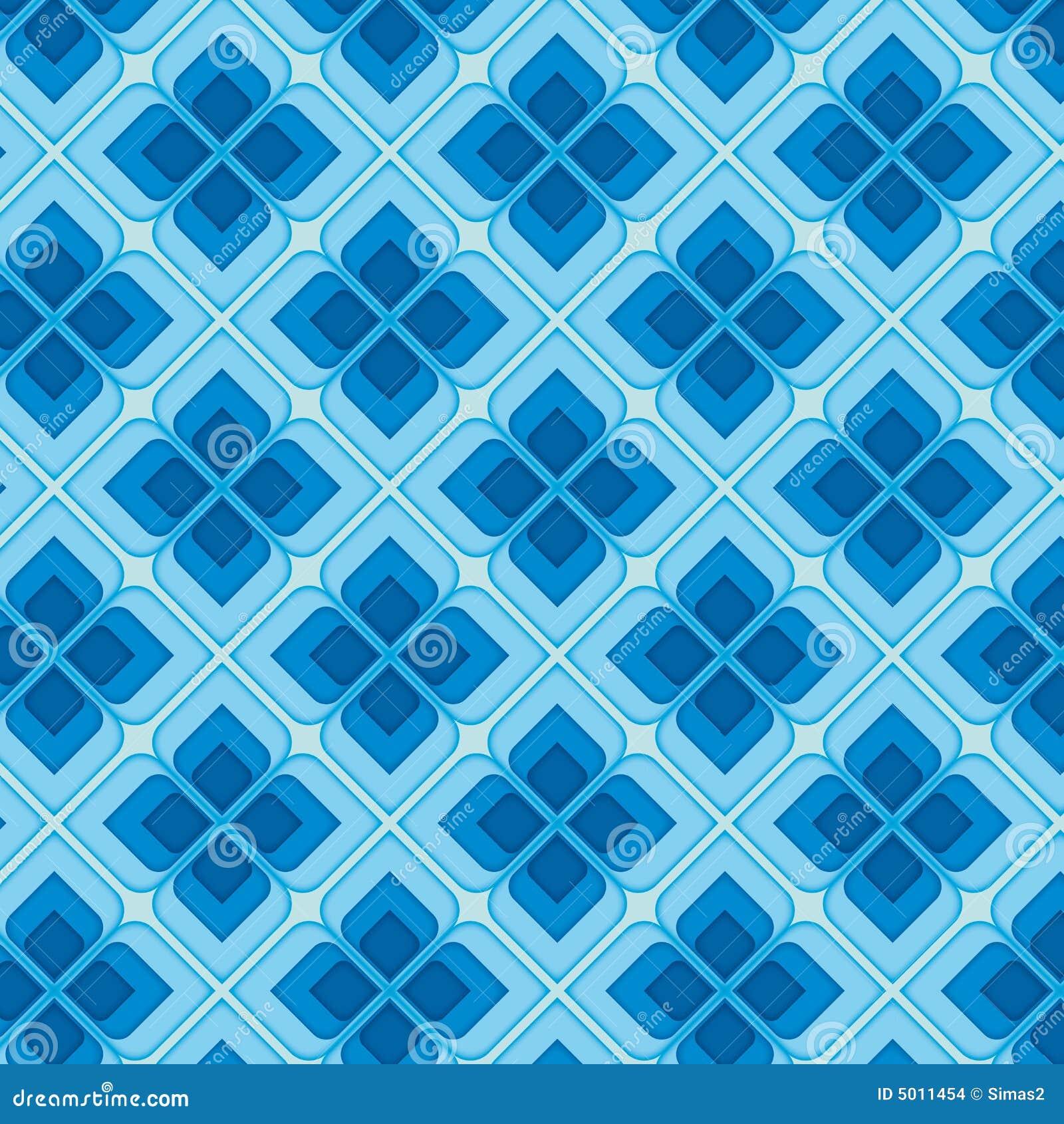 Blue Vintage Seamless Pattern Stock Vector - Illustration ...