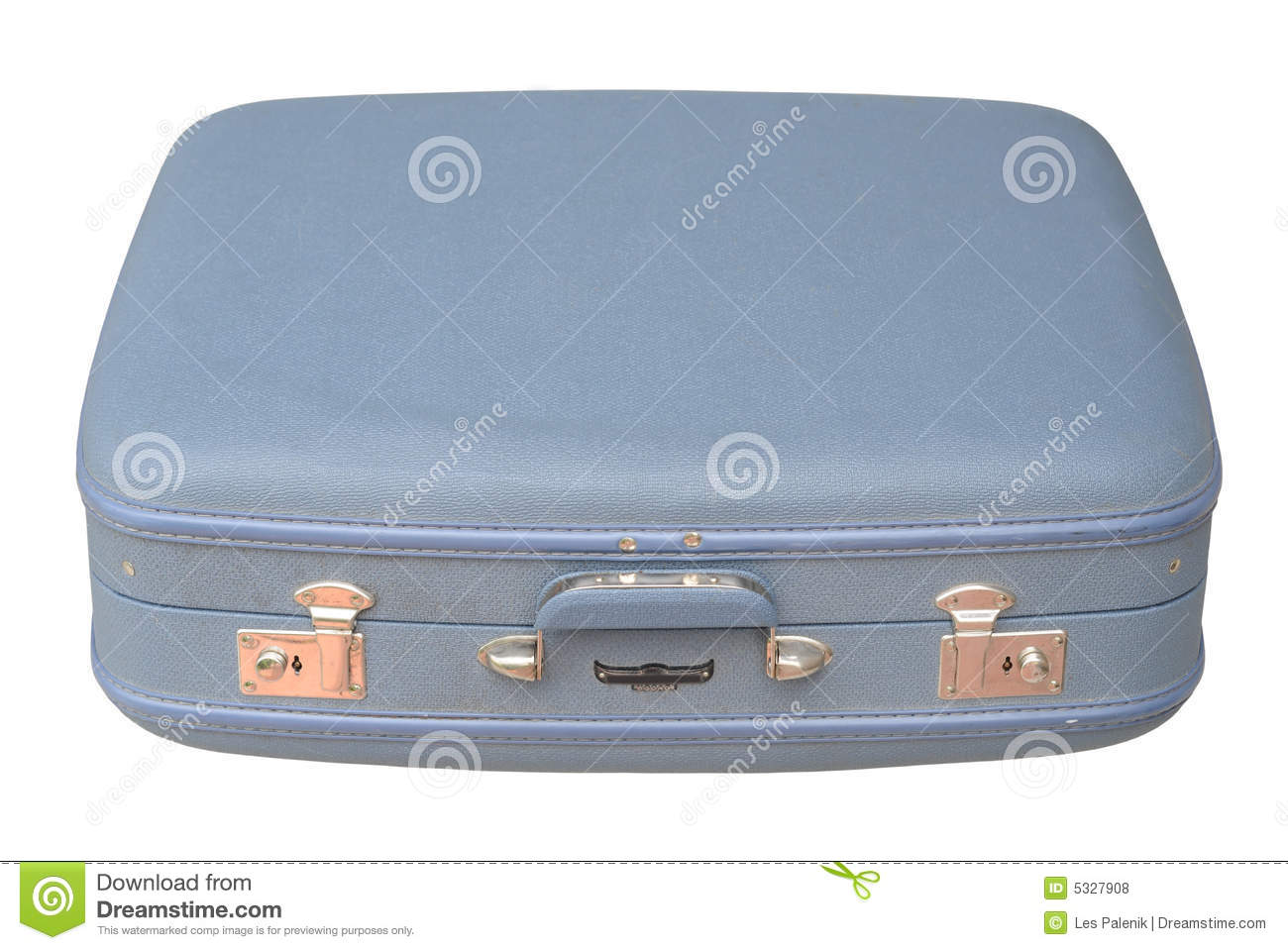 Blue Vintage Suitcase - Closed Royalty Free Stock Photos - Image ...