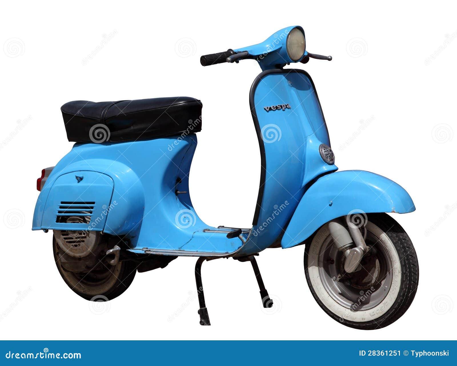 blue vintage vespa scooter editorial photo image of drive 28361251. Black Bedroom Furniture Sets. Home Design Ideas