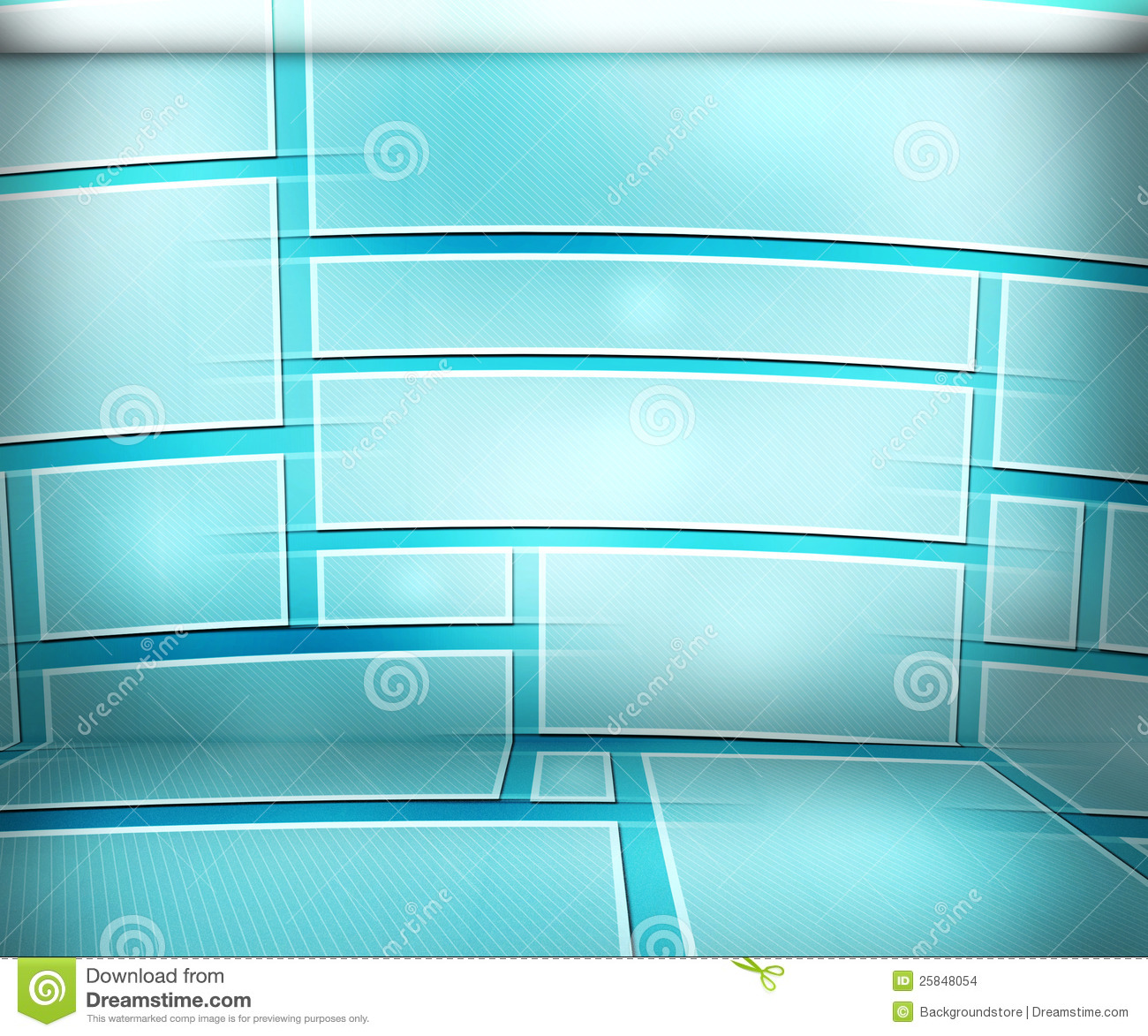 Room Background: Blue Virtual Room Background Stock Photo