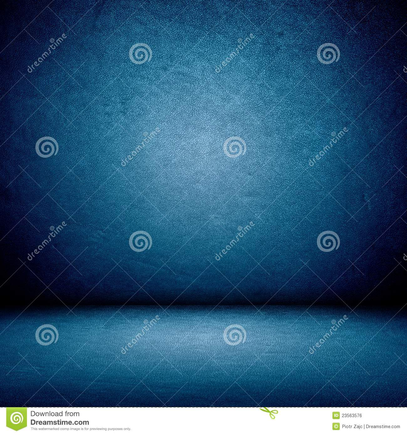 Blue Wall And Floor Interior Stock Photo - Image of floor ...