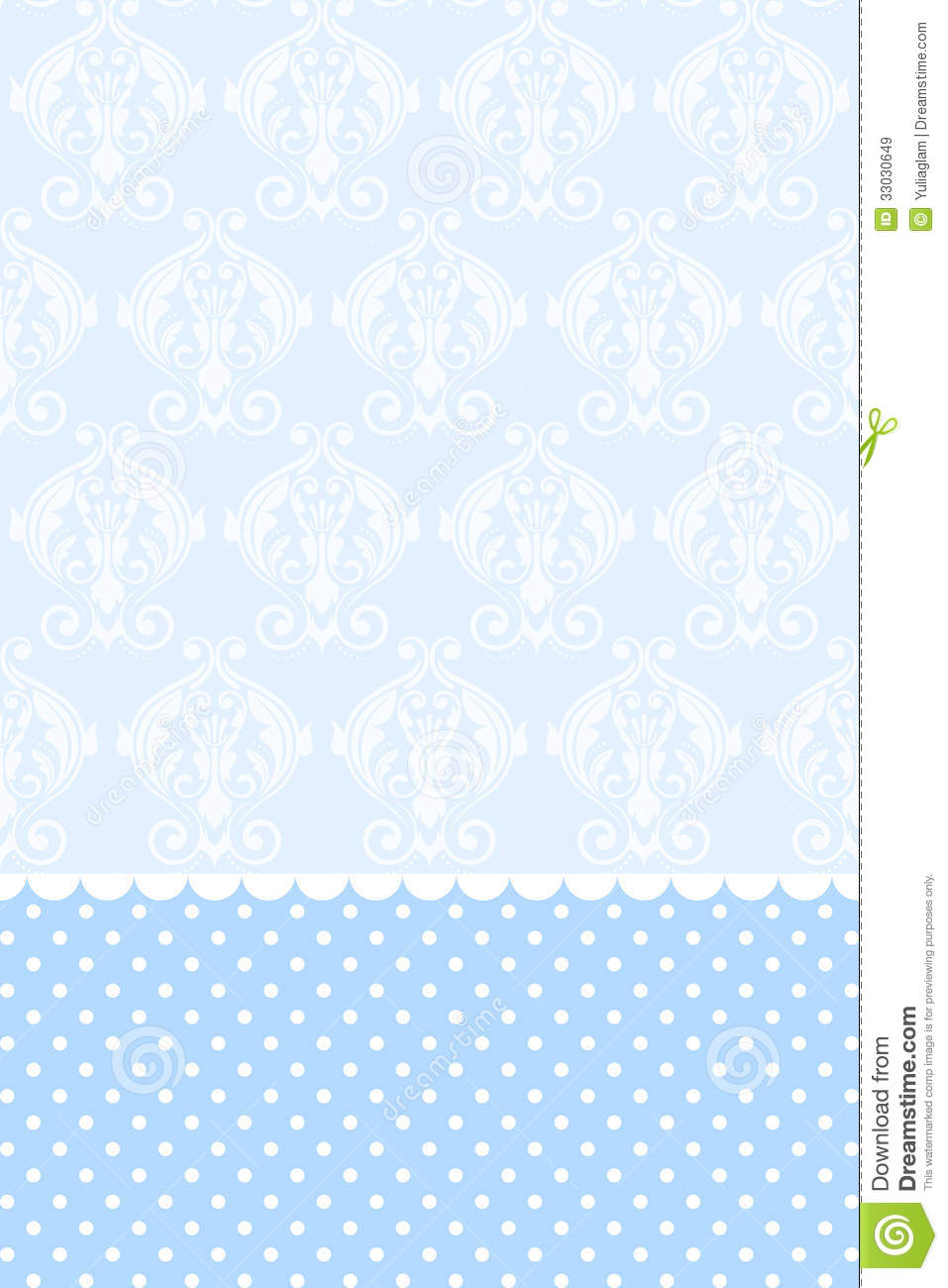 Blue Floral Wallpaper Texture