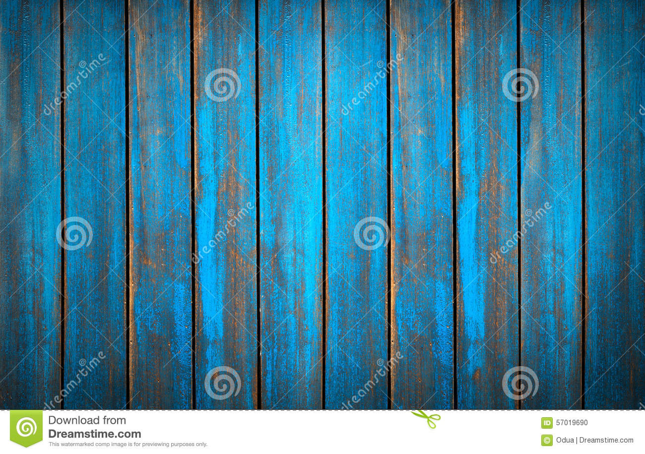 Blue Washed Wood Texture Background Old Panels Stock
