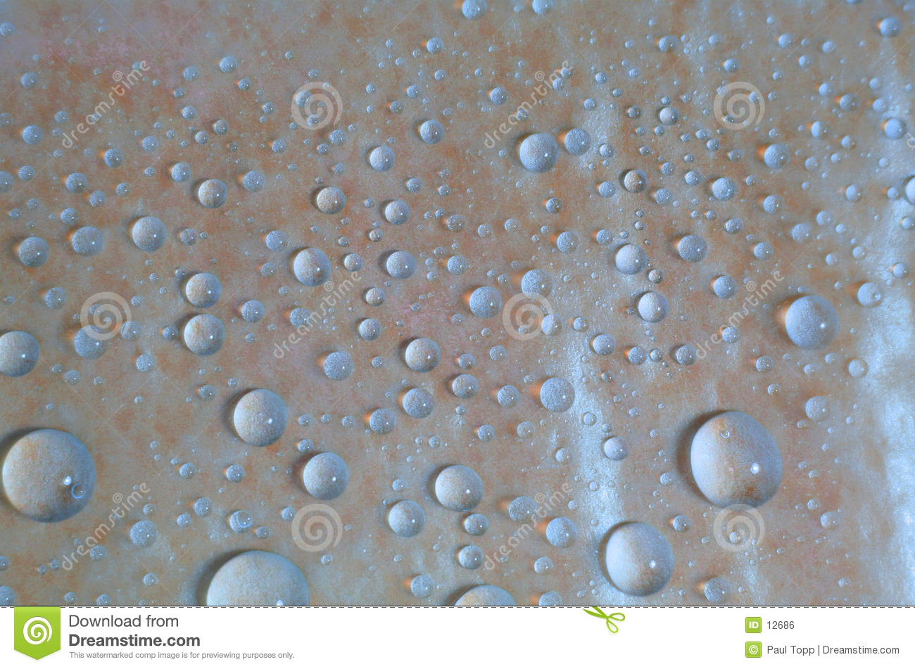 Blue Water Droplets Background