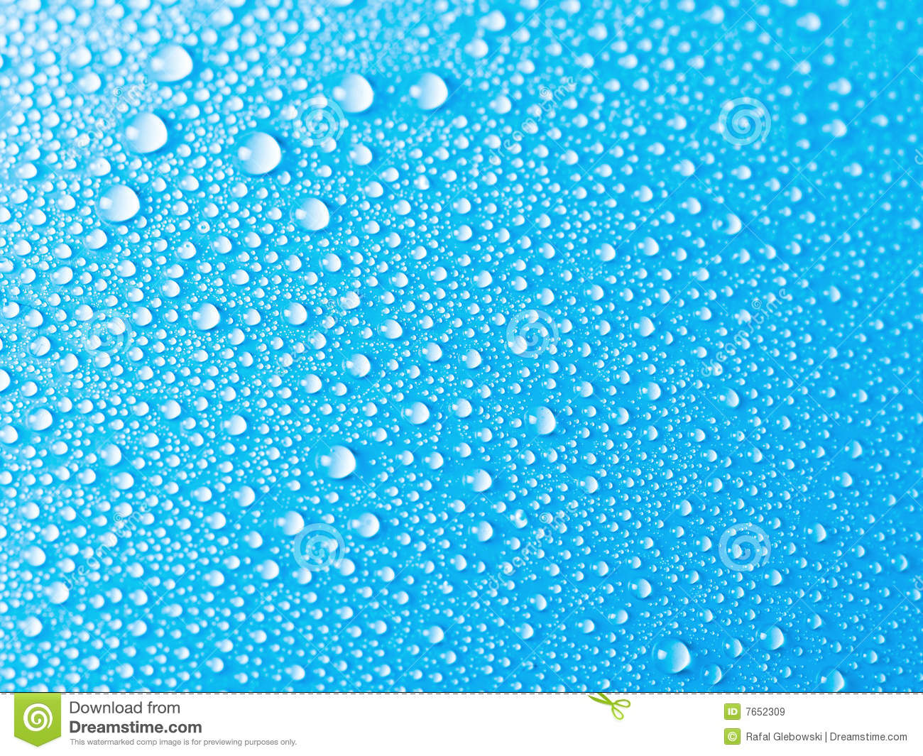 Blue Water Drops Background Texture Stock Image - Image of abstract