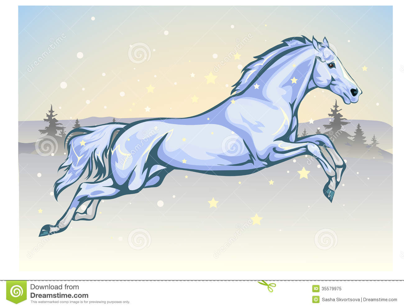 Blue Water Horse Royalty Free Stock Photo - Image: 35579975