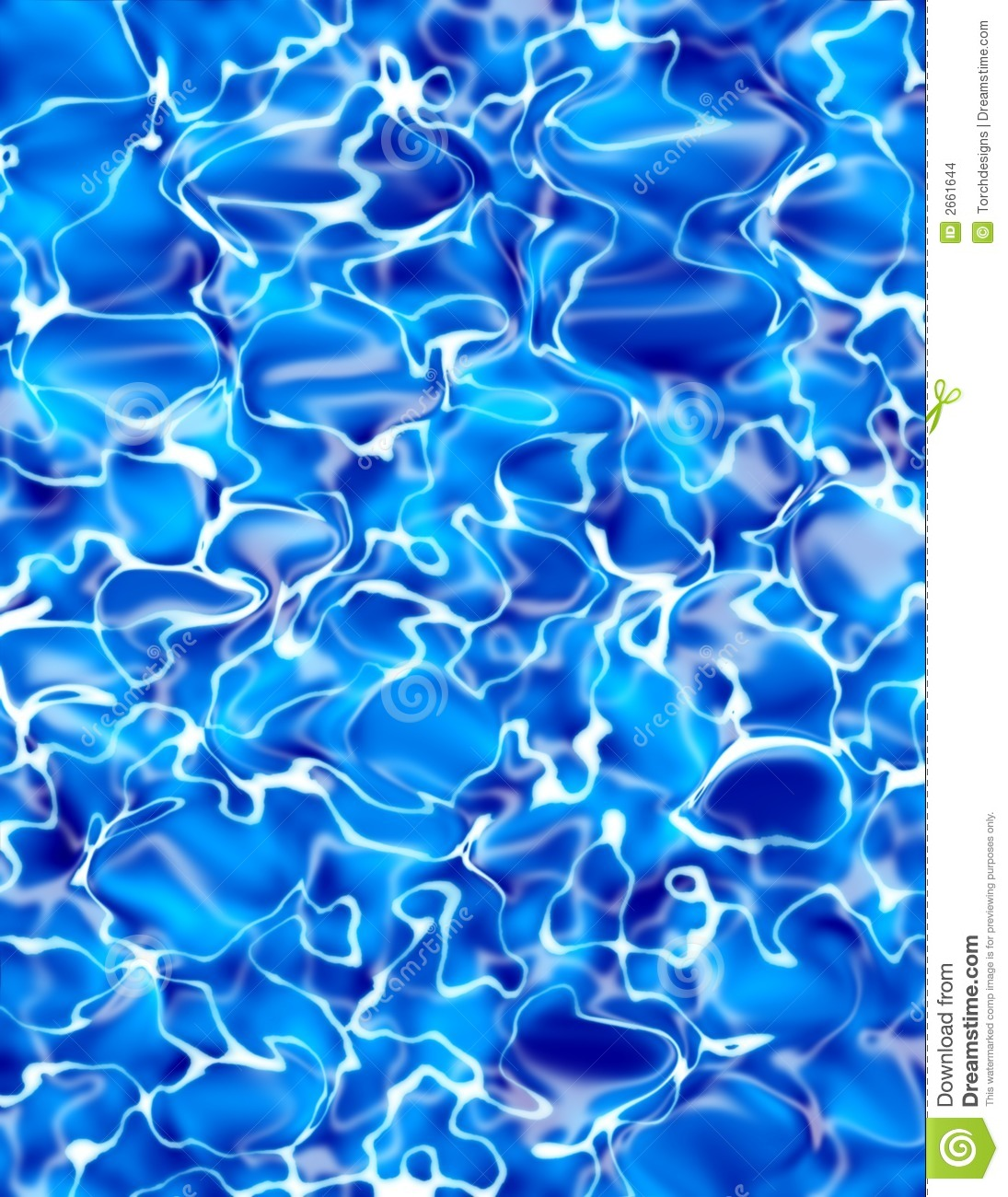 Blue Water Illustration Stock Illustration Illustration