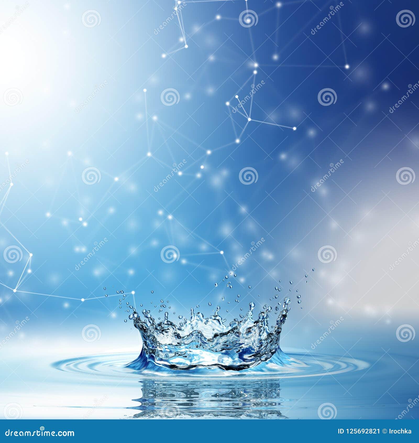 Download Blue Water Splash Isolated On White Background. Stock Illustration - Illustration of hygiene, motion: 125692821