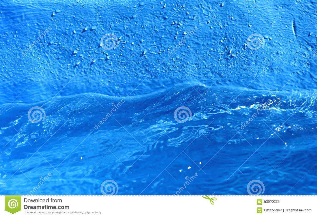Blue Water Surface Stock Photo - Image: 53020335