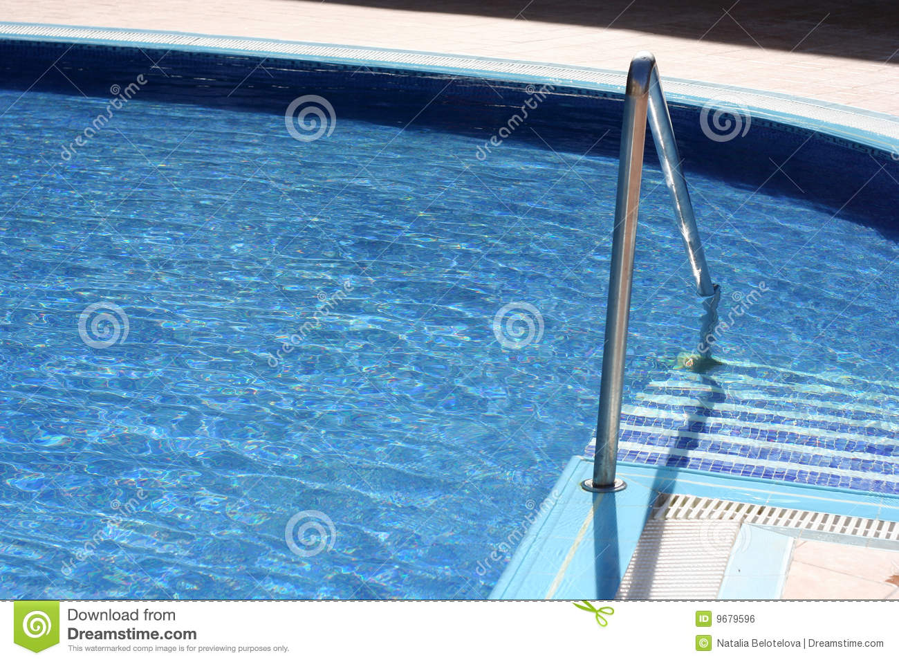 Blue Water In Swimming Pool Royalty Free Stock Image Image 9679596