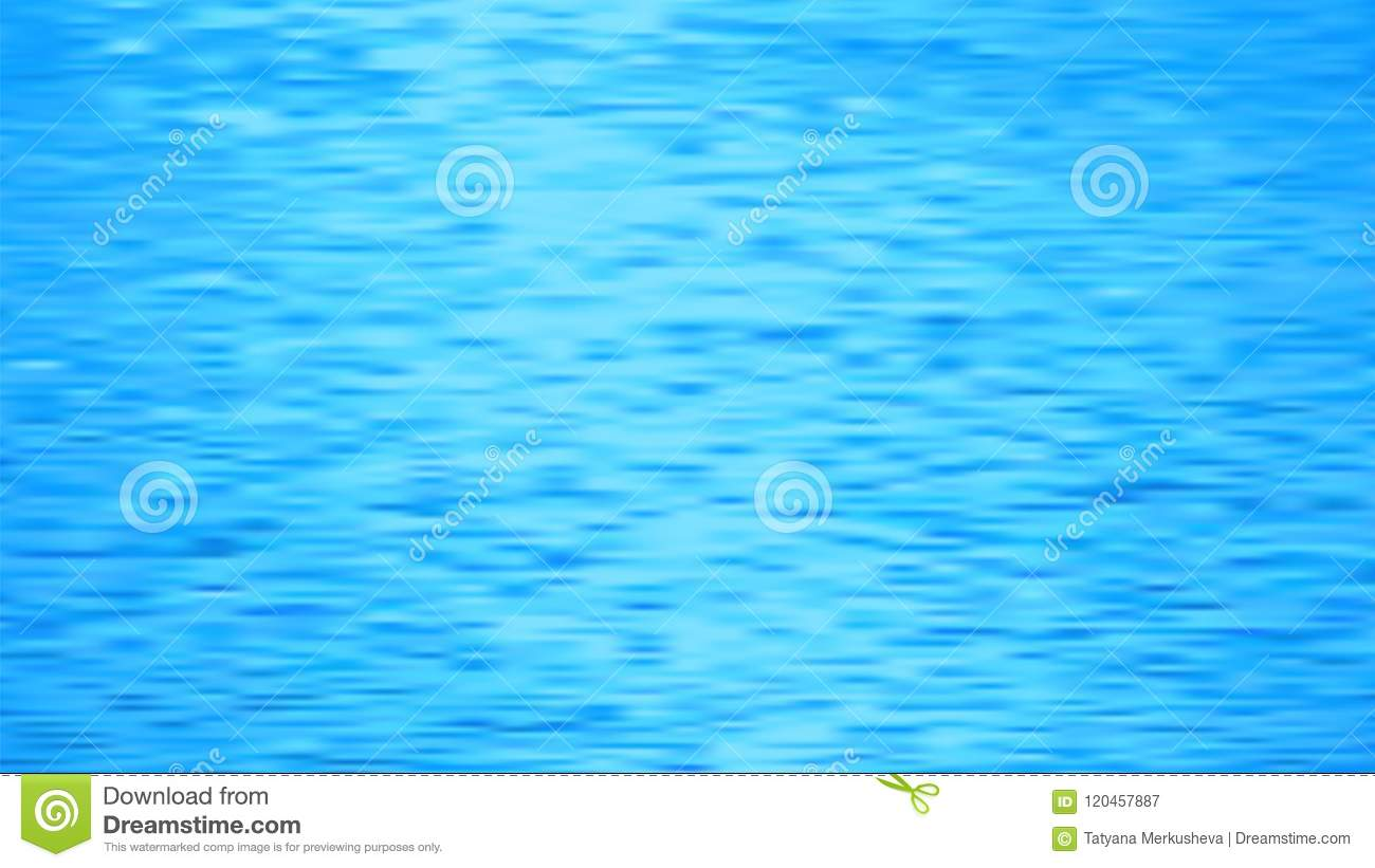 Blue Water Texture Sea Waves Background Abstract Vector